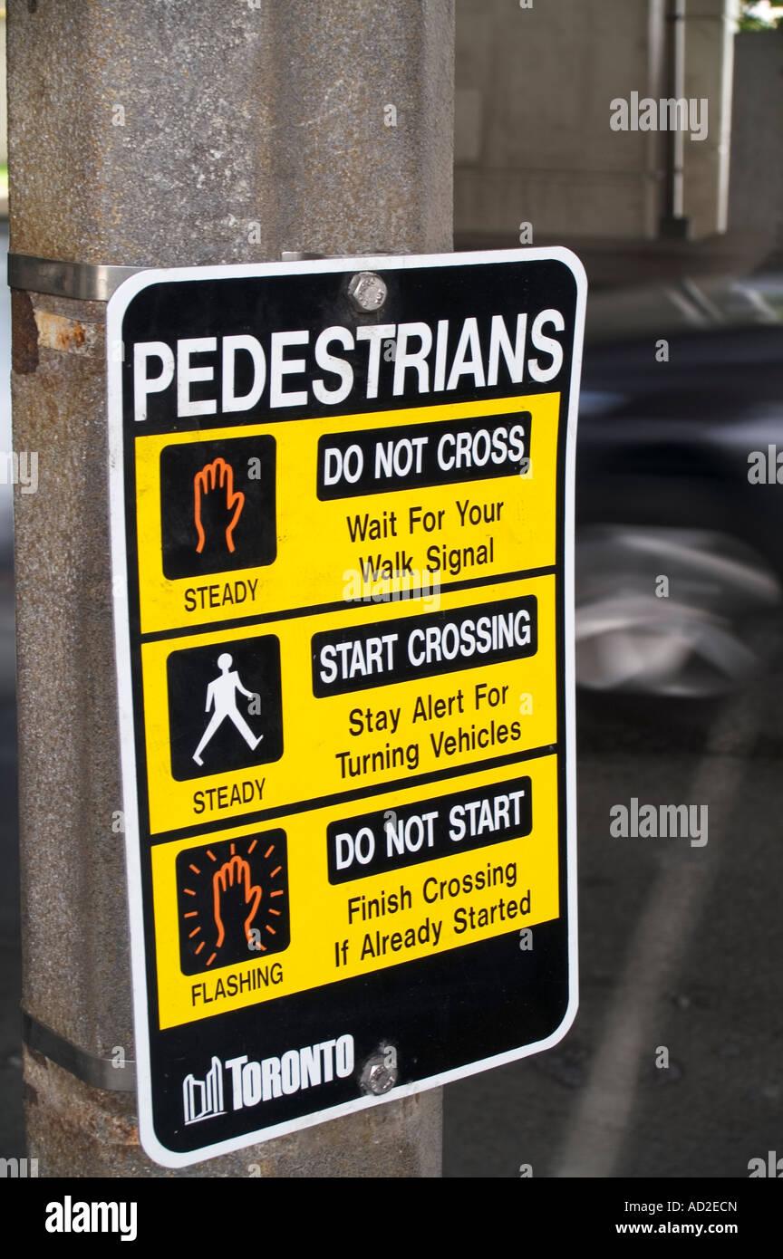 description for pedestrians in toronto - Stock Image