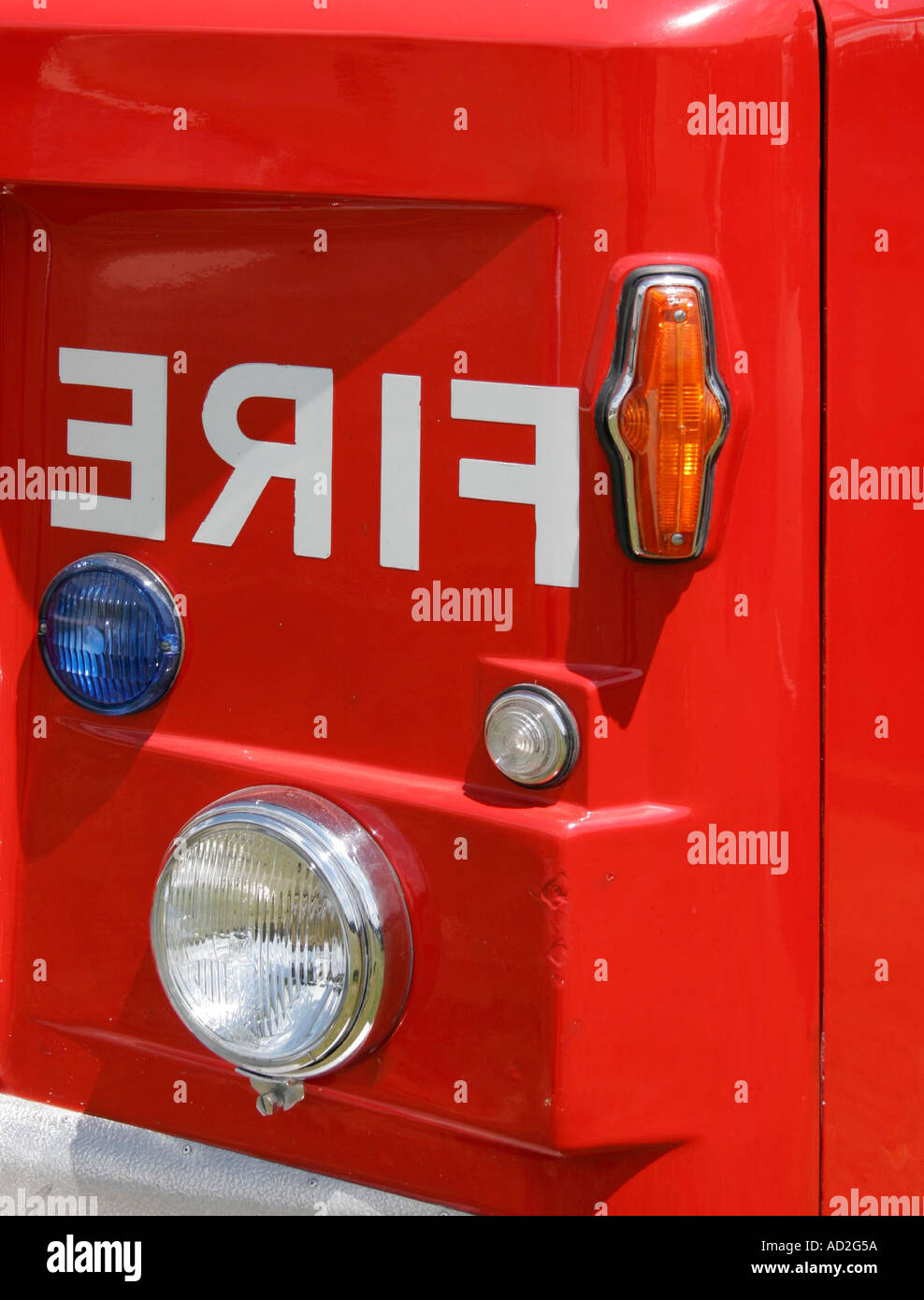 fire tender engine close letter reverse wing corner indicator side