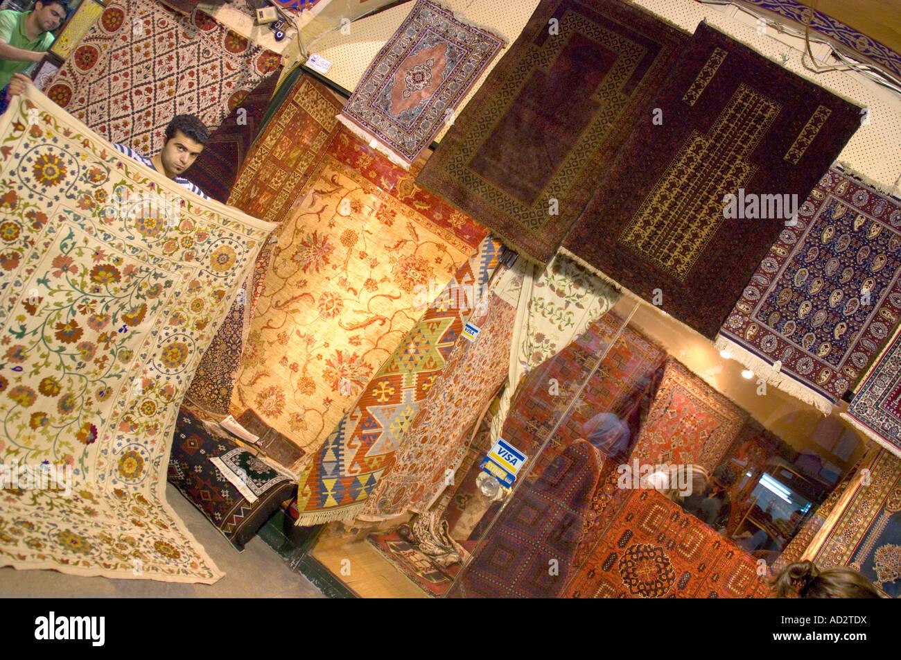 Turkish Carpet Shop In Grand Bazaar Istanbul