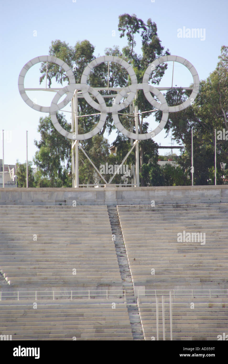 Athens the Panathinaiko white marble arena location for the Greek Olympic Games of 1896 now a major tourist attraction Stock Photo