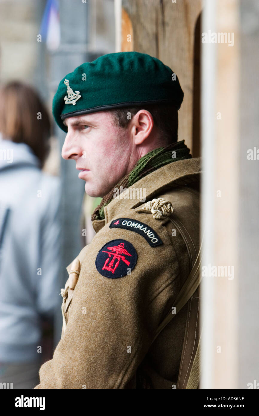 85f897a91 WW2 British Commando soldier at reenactment weekend Stock Photo ...