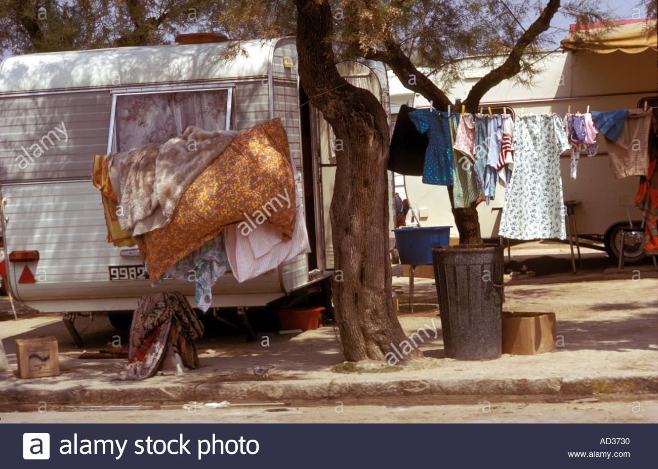 Gypsies from all over Europe gather at the festival of Sainta Marie de la Mere in the Camargue an annual event in the South of F - Stock Image