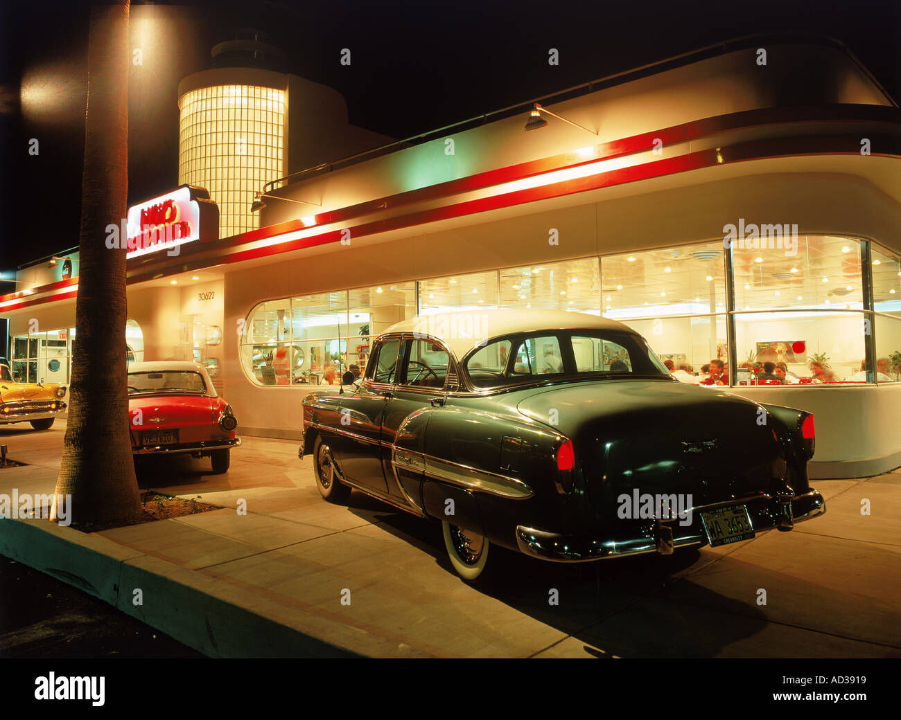 Classic American Car Diner Stock Photos Amp Classic American