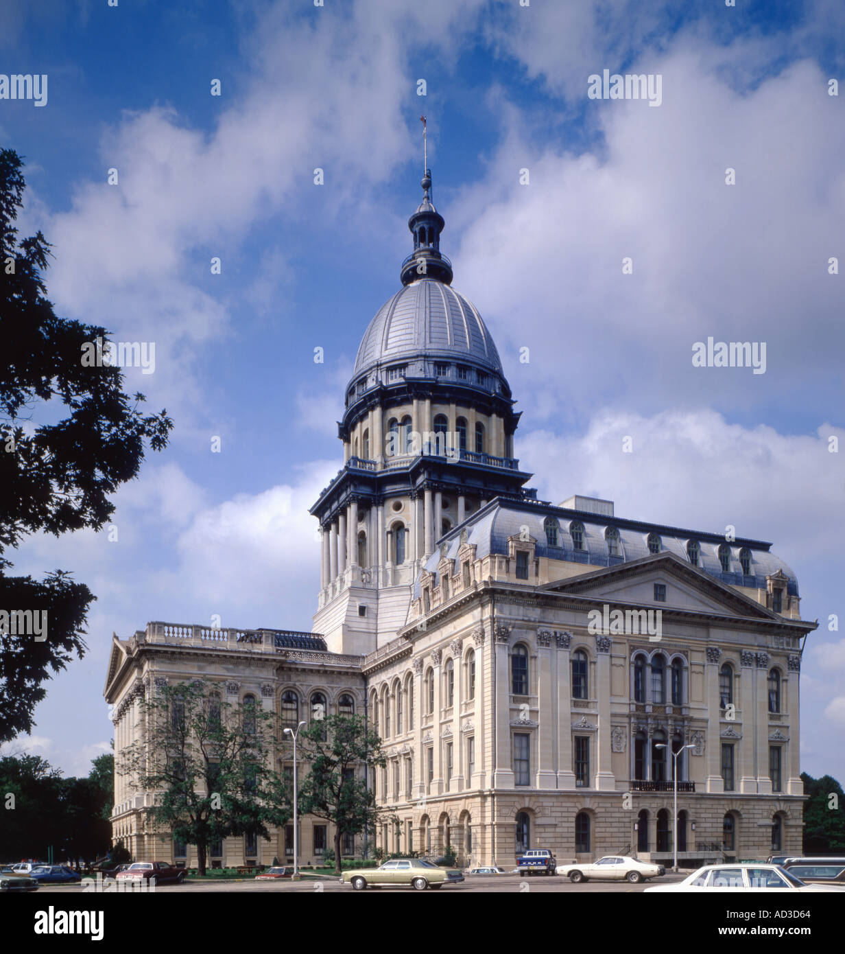 Illinois State Capitol building located in Springfield in Illinois - Stock Image