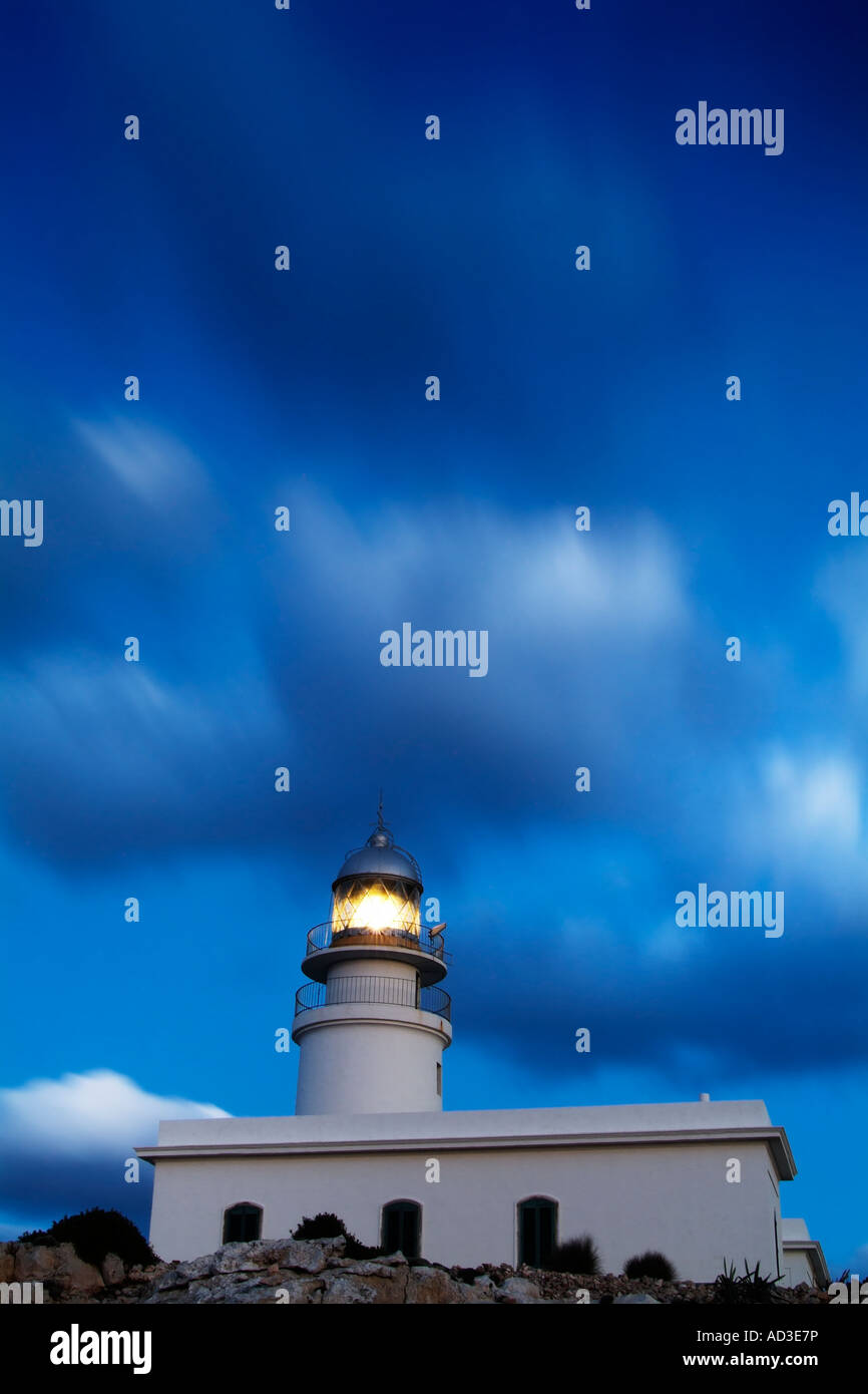 Lighthouse of Cap de Caballeria Menorca Spain - Stock Image