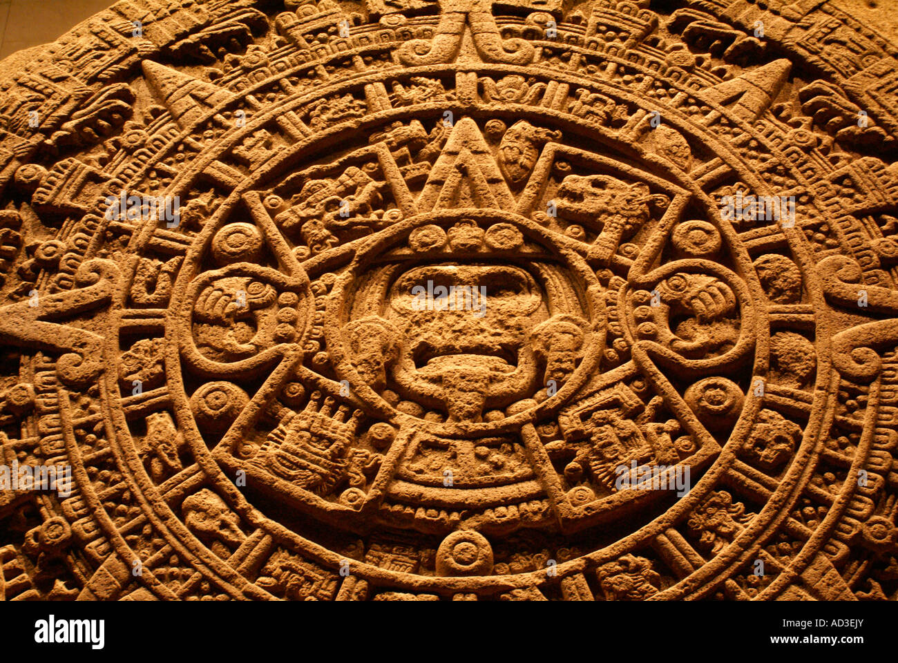 Aztec Calendar Stone.Aztec Calendar Stone Or Sun Stone National Museum Of Anthropology
