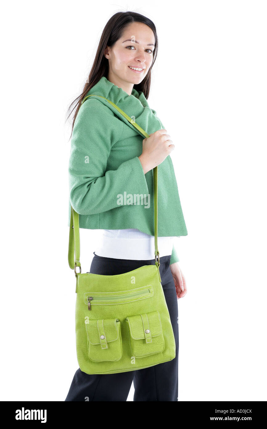 Young Woman Carrying Handbag Model Released Stock Photo  13293433 ... d06537d1b0d3