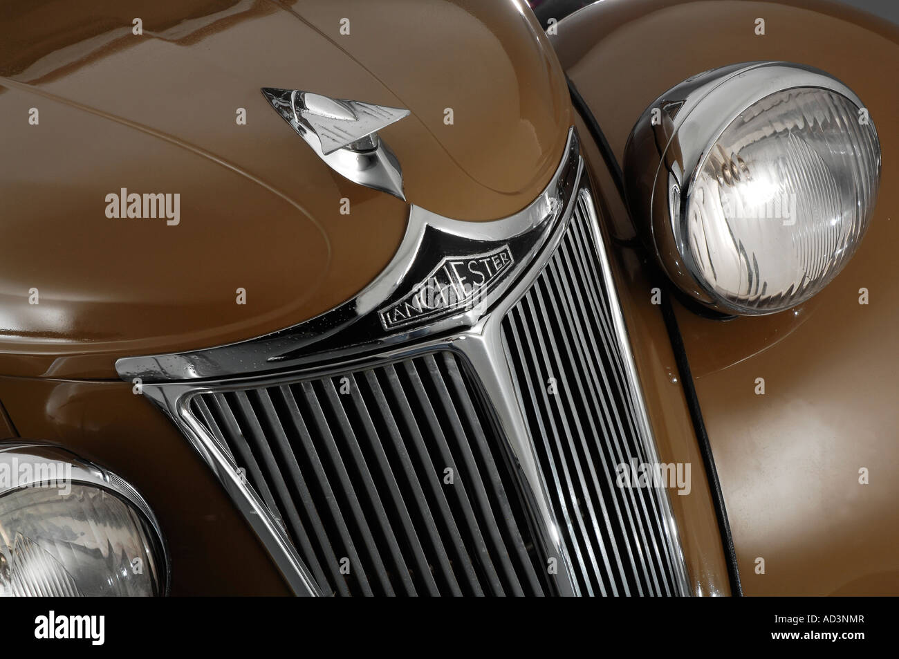 1950 Lanchester LD10 grille detail - Stock Image