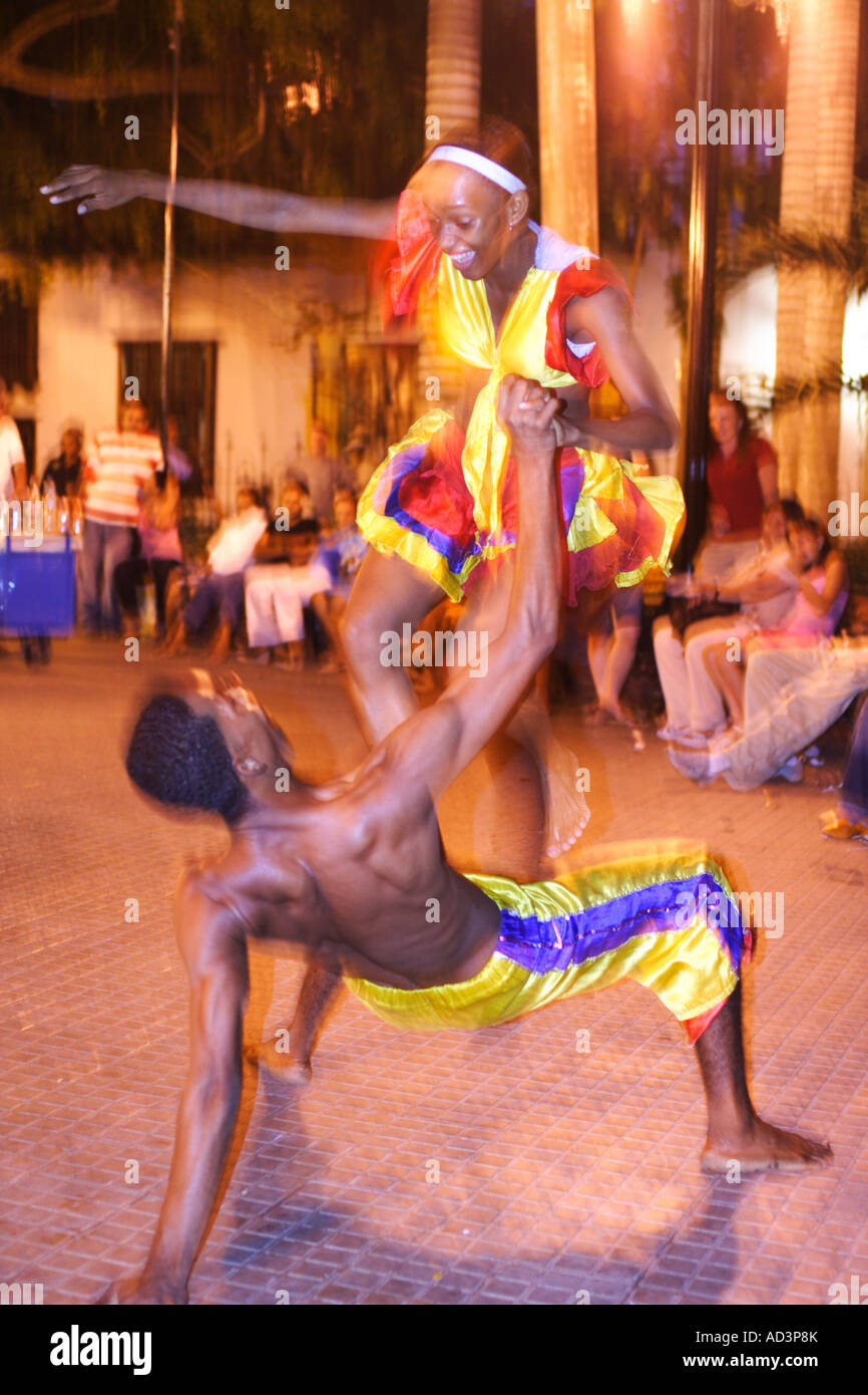 traditional dancers, Cartagena de Indias, Bolivar, Colombia, South America, caribbean - Stock Image