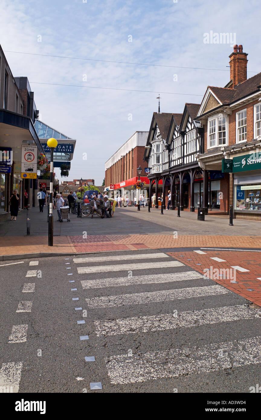 Town Centre Zebra Pedestrian Crossing Market Street Wellingborough Stock Photo 4341203 Alamy