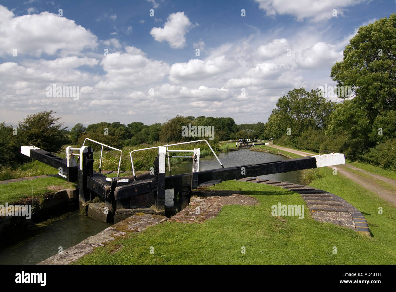 Doug Blane The Northampton arm of the Grand Union canal - Stock Image