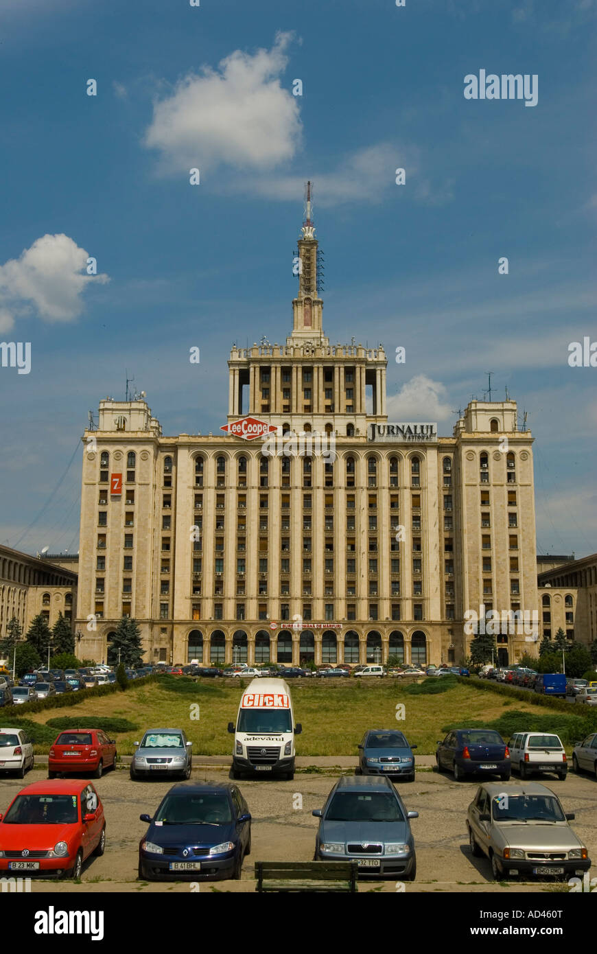 Press center, Bucharest, Romania - Stock Image
