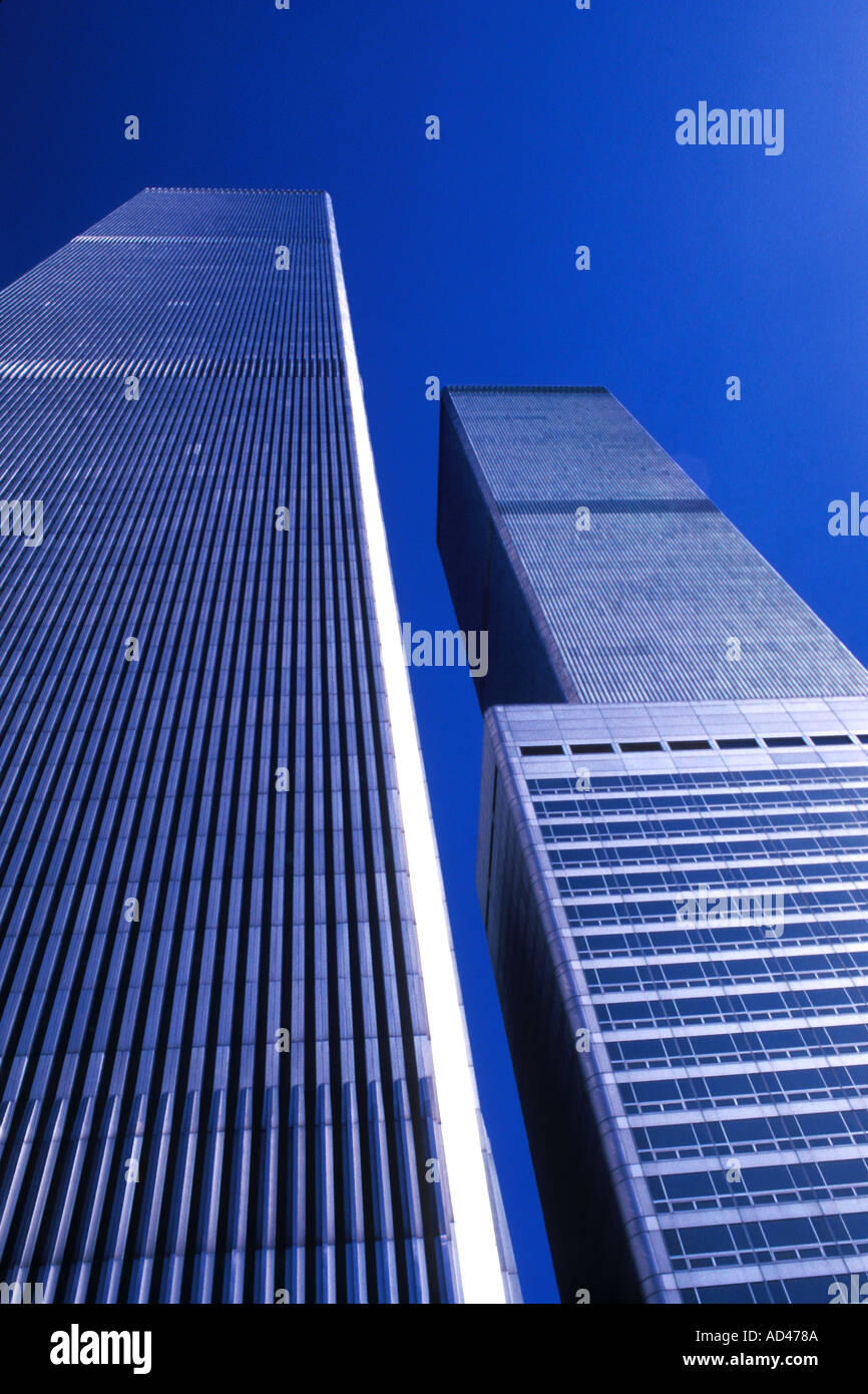 Historic World Trade Center Abstract in New York City - Stock Image