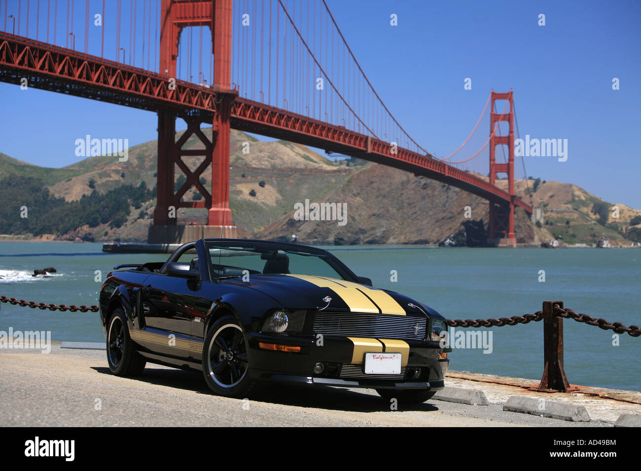 ford mustang shelby gt h rental at the golden gate bridge. Black Bedroom Furniture Sets. Home Design Ideas