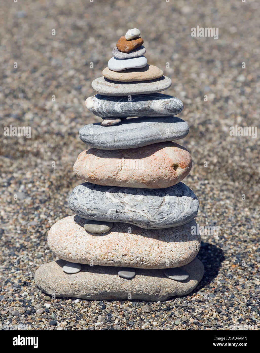 A tower made of pebble stones Stock Photo