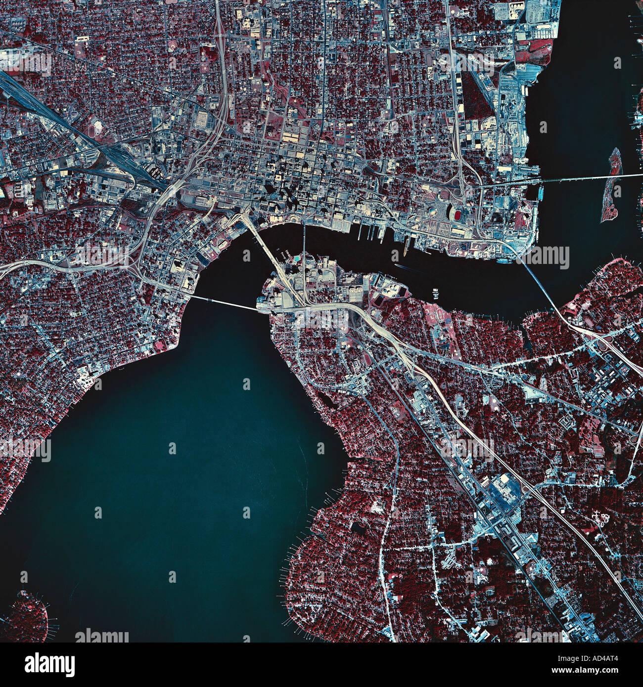 Satellite Map Of Florida.Jacksonville Florida Satellite Image Stock Photos Jacksonville