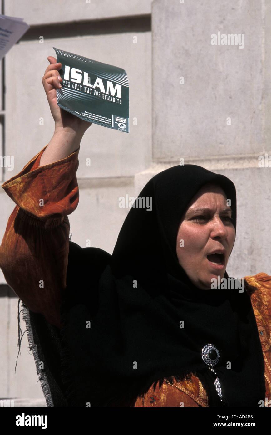 UK ISLAMIC FUNDAMENTALIST RALLY LONDON - Stock Image