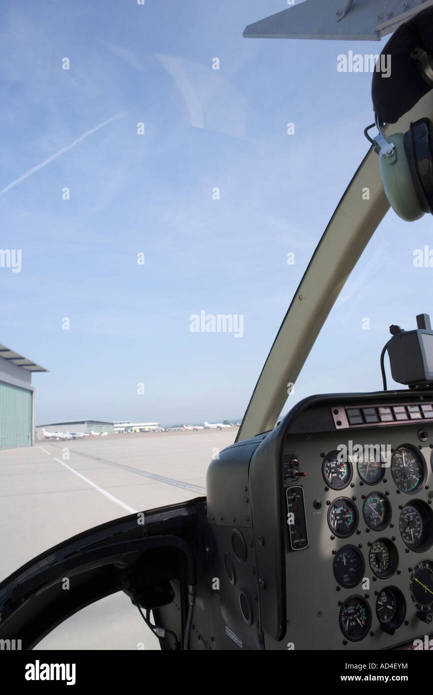 Helicopter cockpit - Stock Image