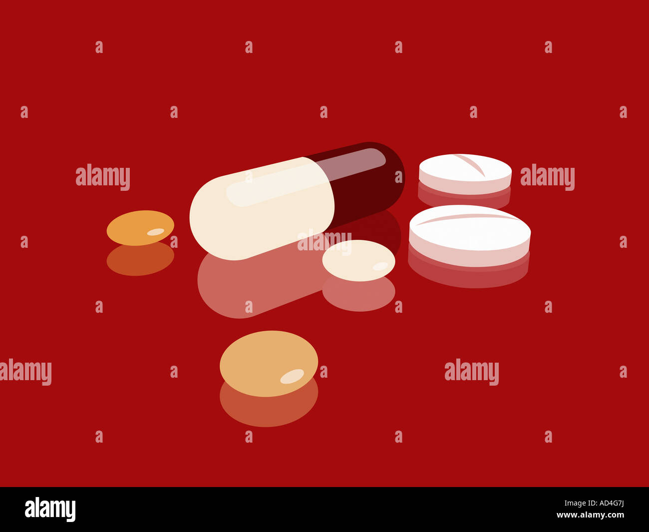 Pills, capsules and tablets - Stock Image