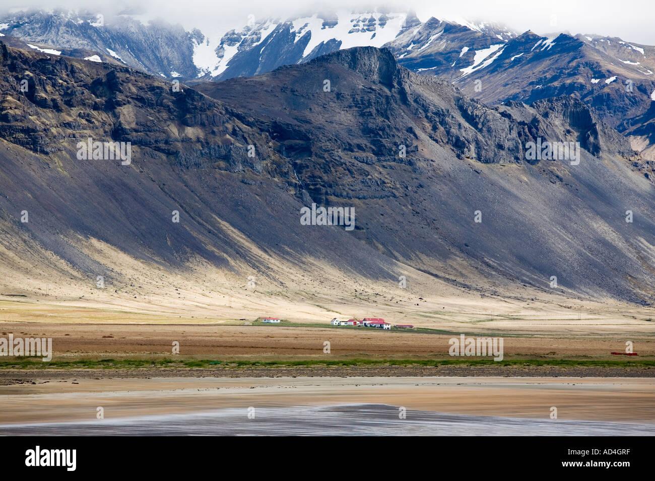 The coast line at Búðir Iceland - Stock Image