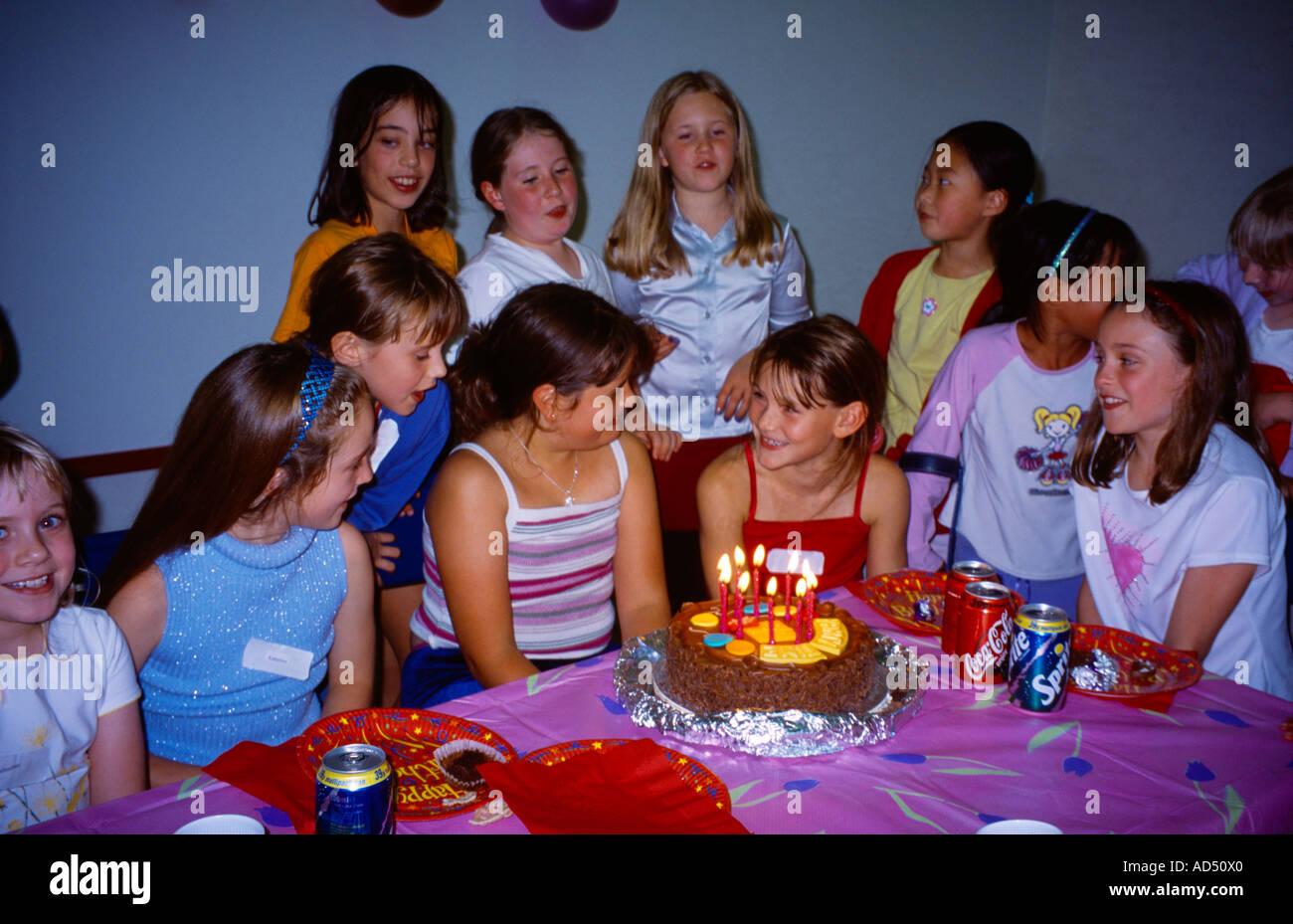 10th Birthday Party Girls Round Cake