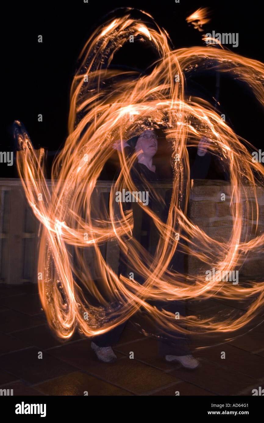 PICTURE CREDIT DOUG BLANE guggling fire Stock Photo