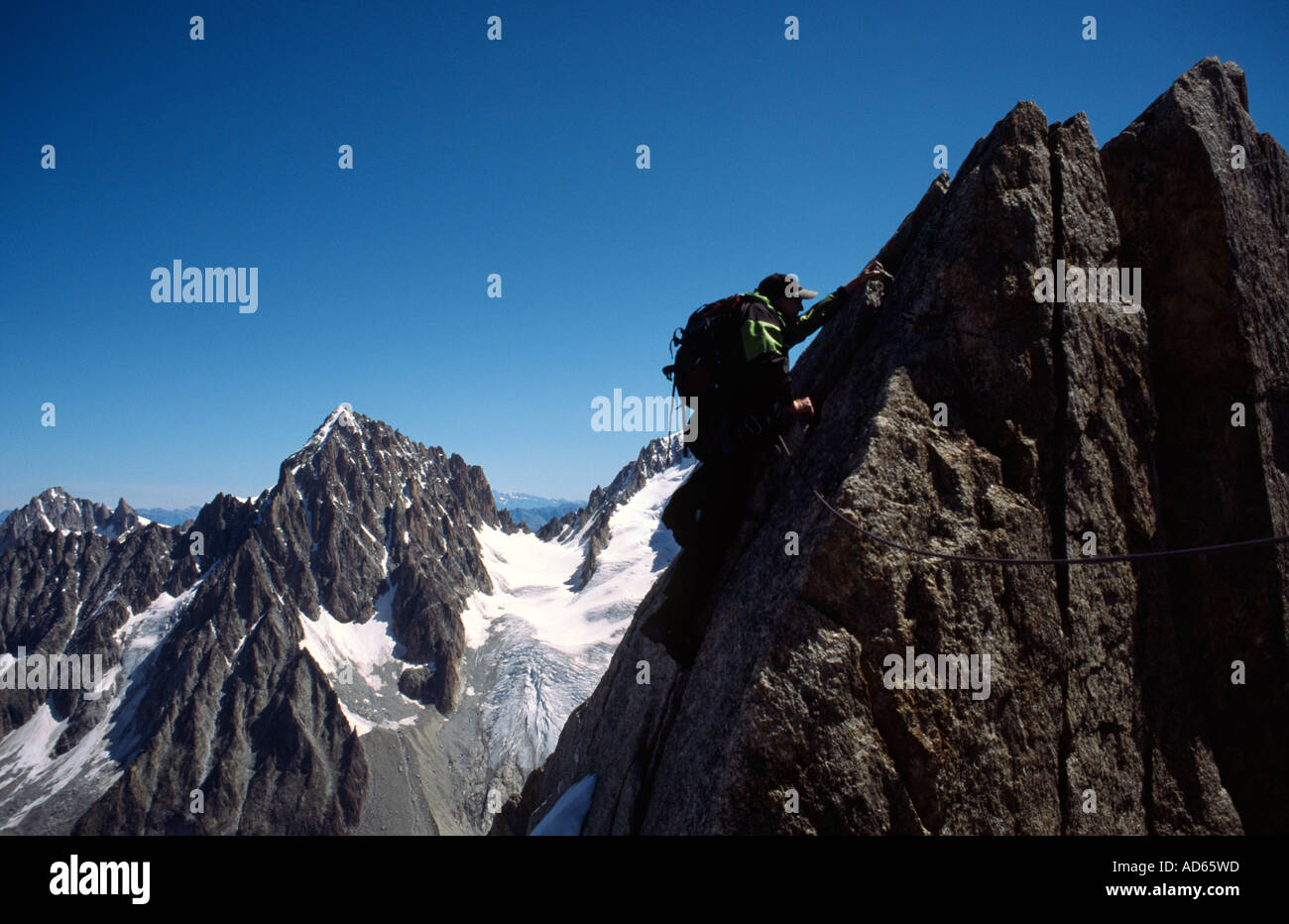 Richard Boud Mountaineering in Chamonix France - Stock Image