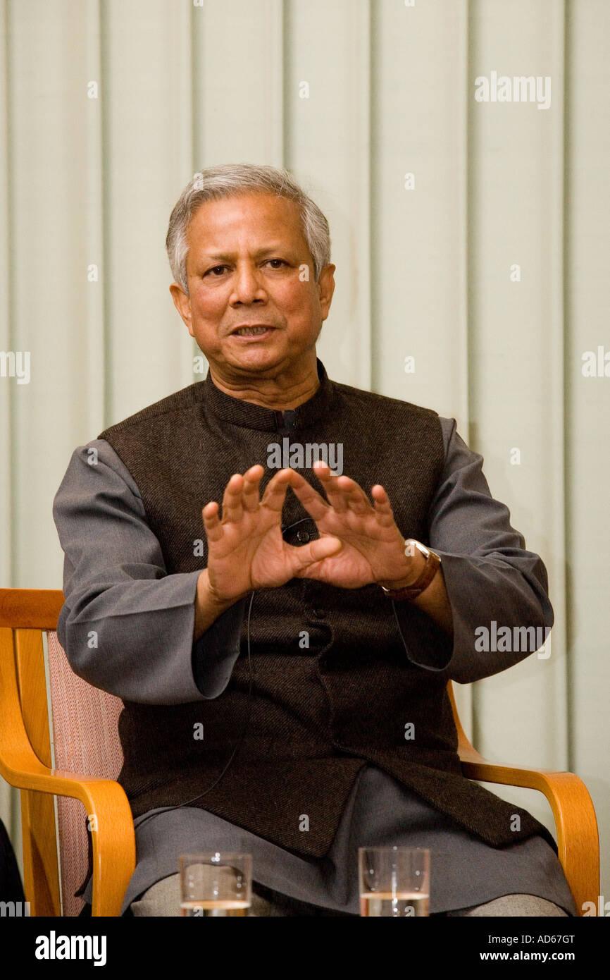 2006 Nobel Peace Prize laureate Muhammad Yunus - Stock Image