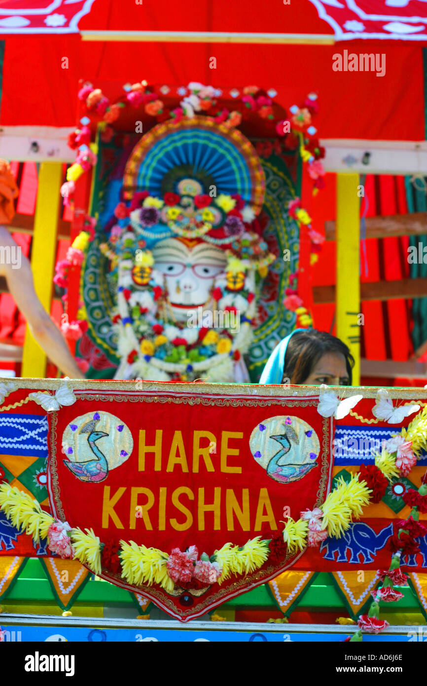 Hare Krishna sect ceremony, pageant - Stock Image