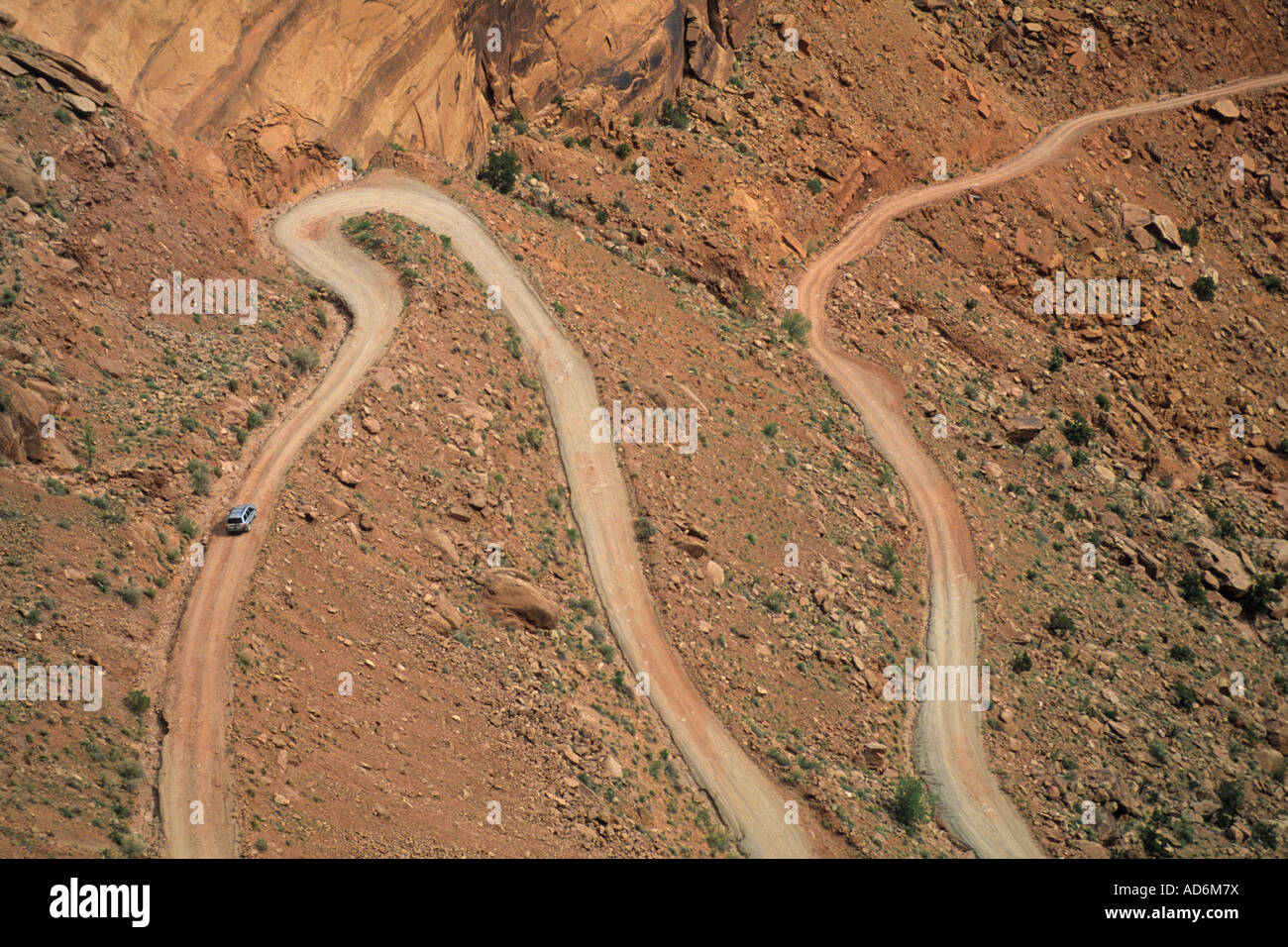 Shafer Trail Road into Shafer Canyon Island in the Sky District Canyonlands National Park UTAH Stock Photo