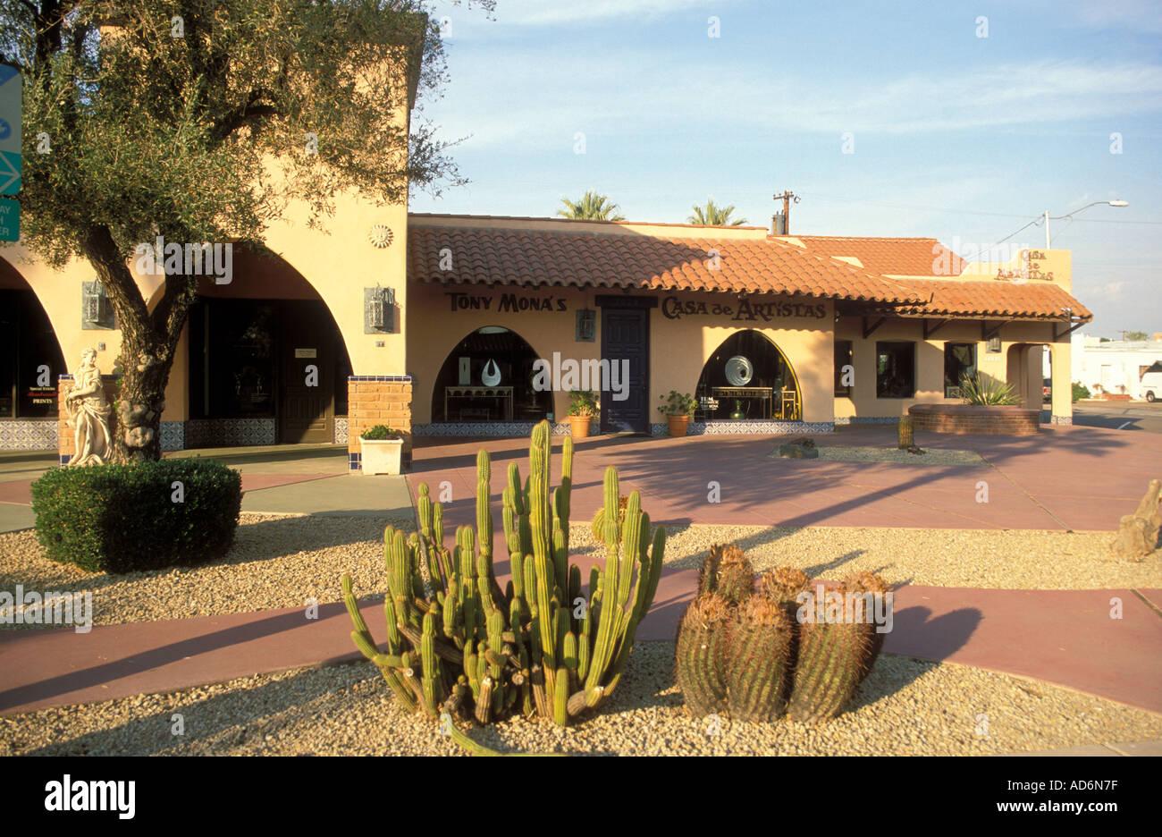 Art Gallery, Main Street, Old Town, Scottsdale, Arizona Stock Photo