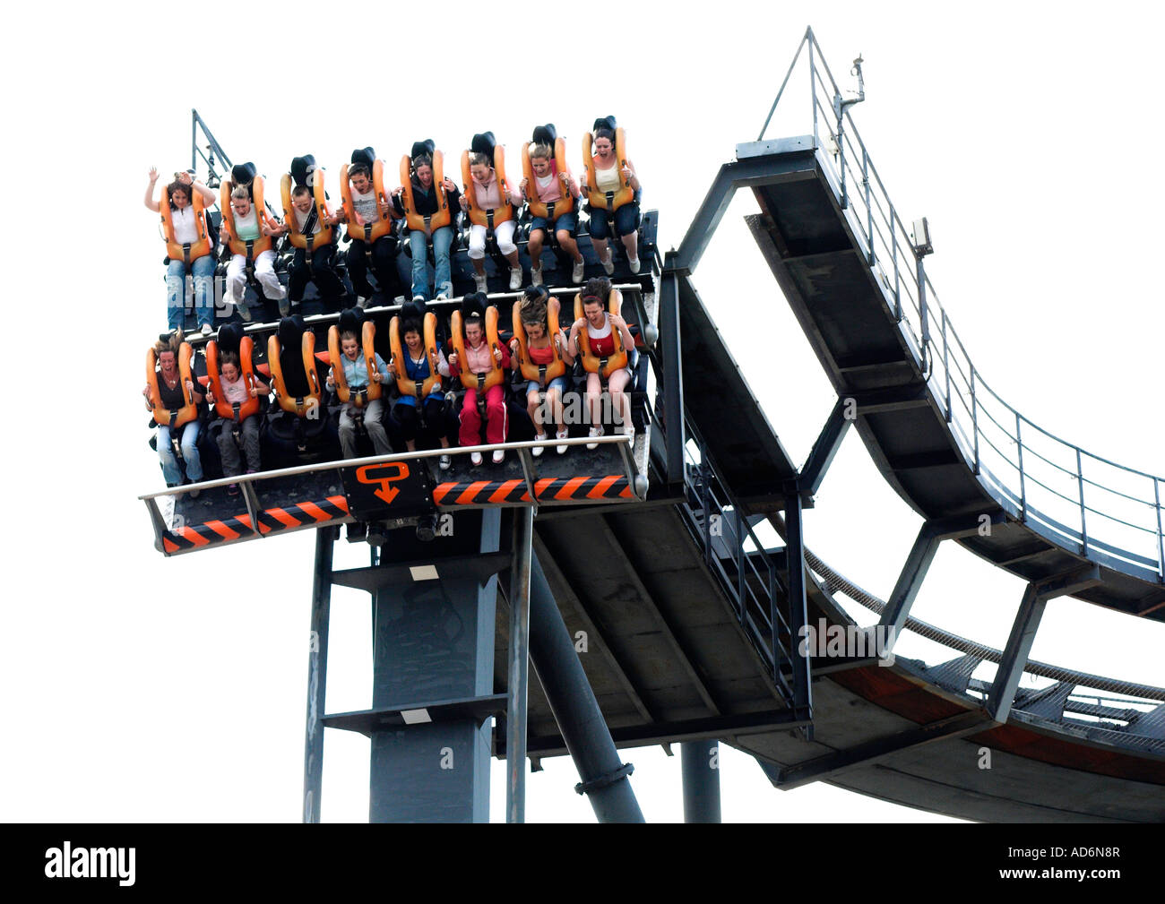 Oblivion Ride Alton Towers theme park  EDITORIAL USE ONLY - Stock Image