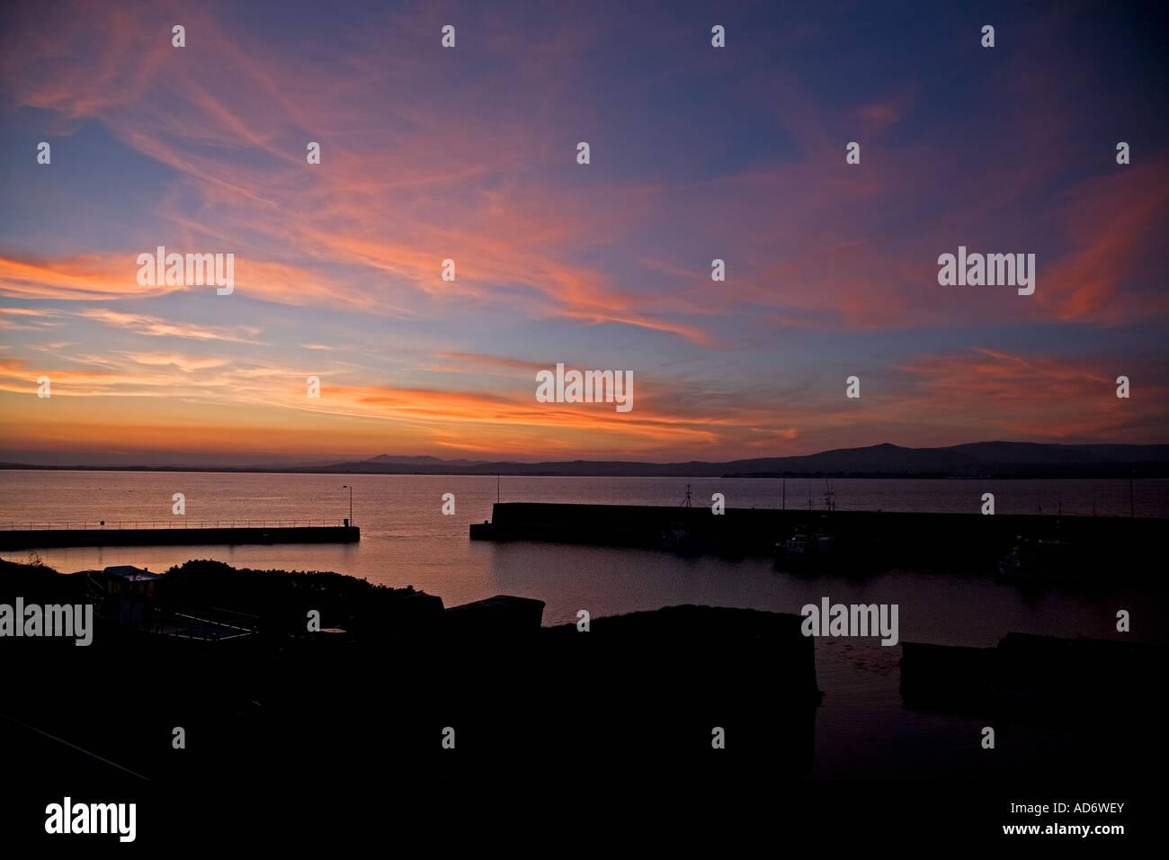 Helvick Fishing Harbour, Ring, Gaeltacht (Gaelic Speaking Area), County Waterford, Ireland - Stock Image