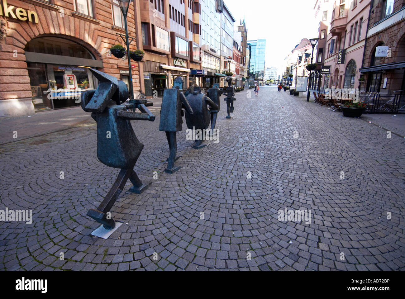Sculpture of orchestra in Malmö by artist Yngve Lundell - Stock Image