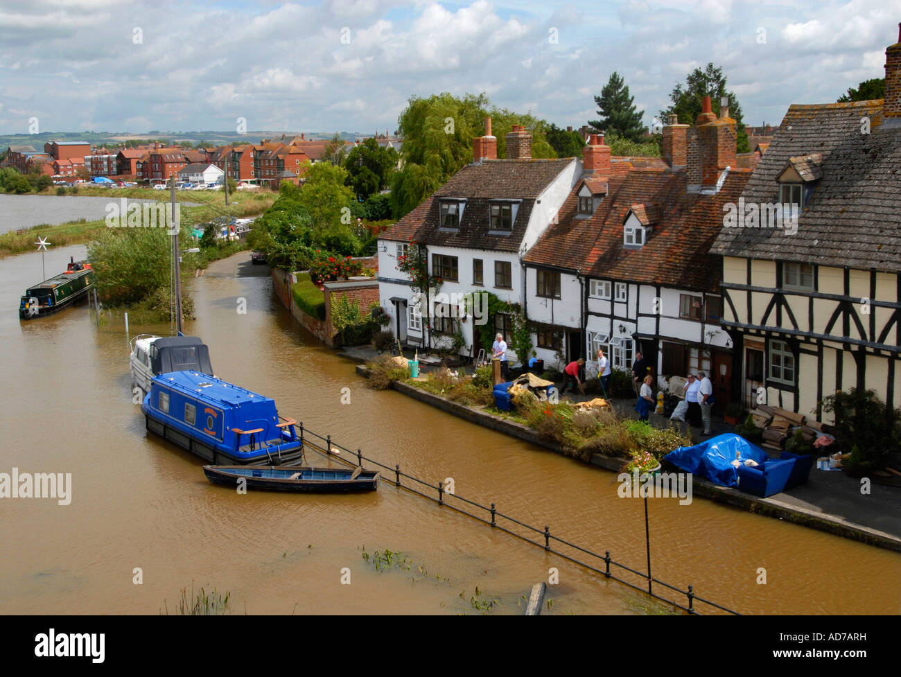 Flooding at Mill Bank in Tewkesbury July 2007 - Stock Image