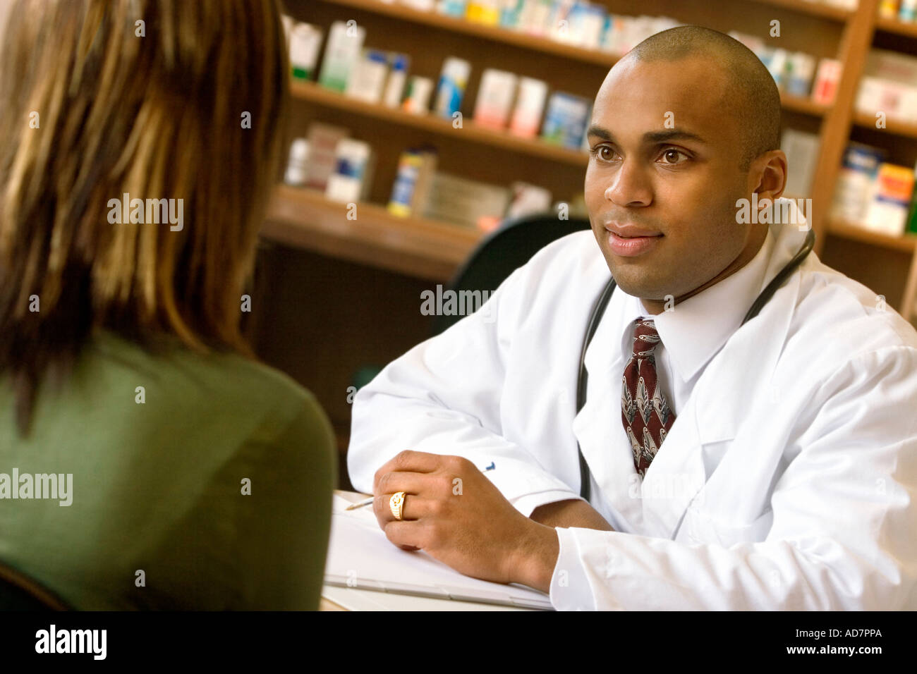 Pharmacist consultation - Stock Image