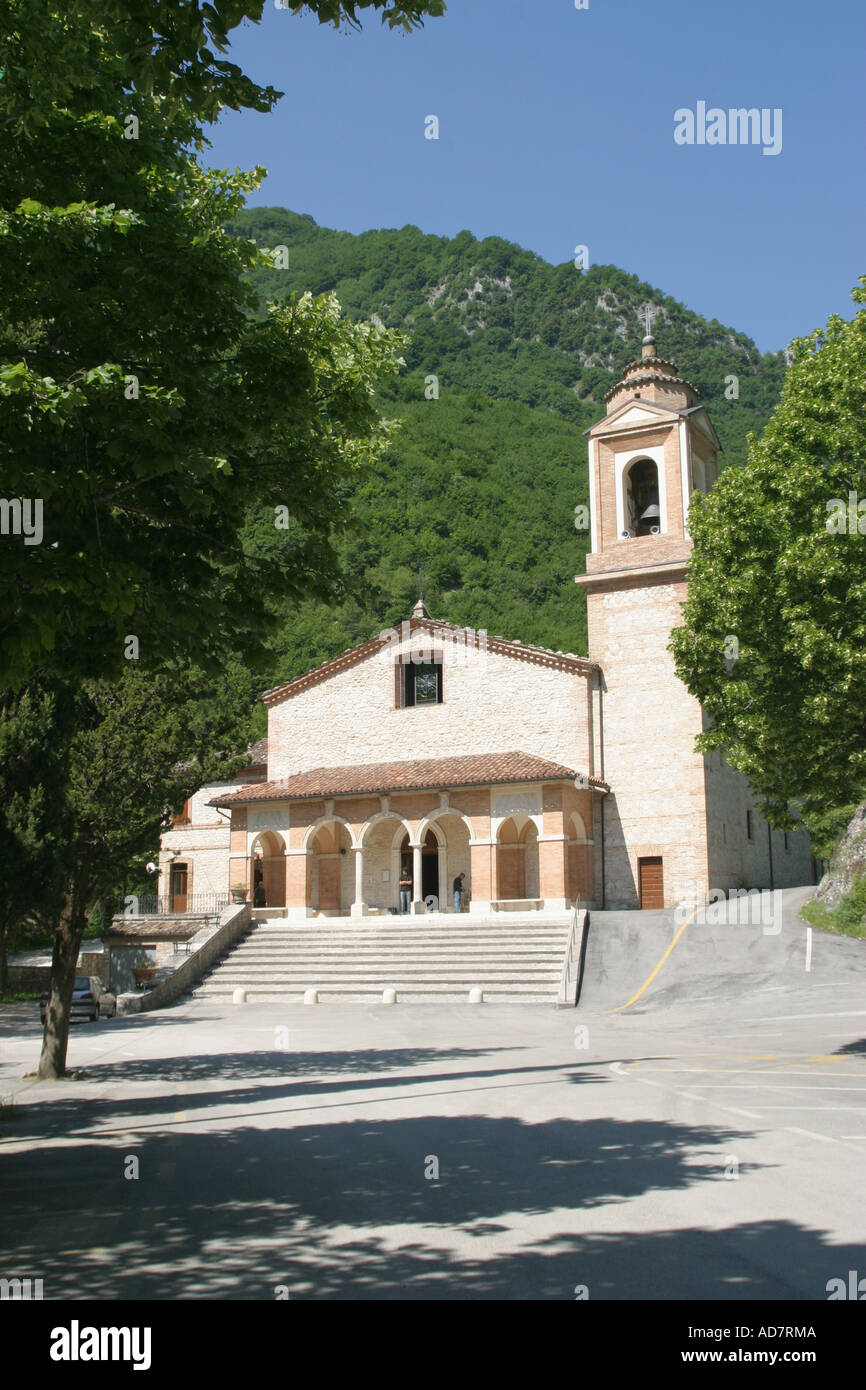 The Gola  di Ambro where the Virgin miraculously appeared,is part of the Sibillini National Park, Le Marche ,Italy Stock Photo