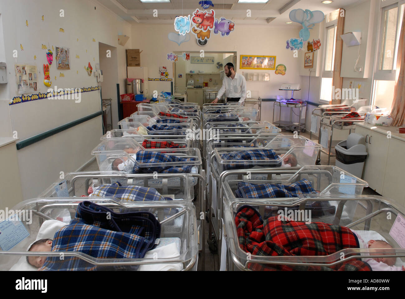 Newborn babies at delivery room in Bikur Holim hospital Jerusalem