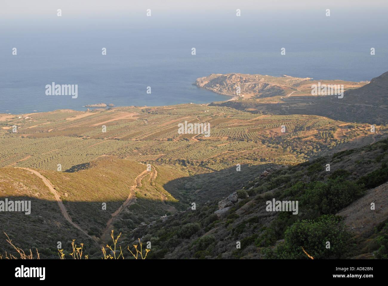 CRETE The coast in the far west of Hania province Stock Photo