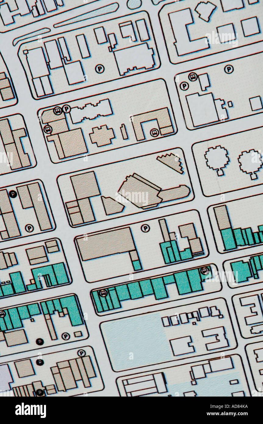 Closeup of a map - Stock Image