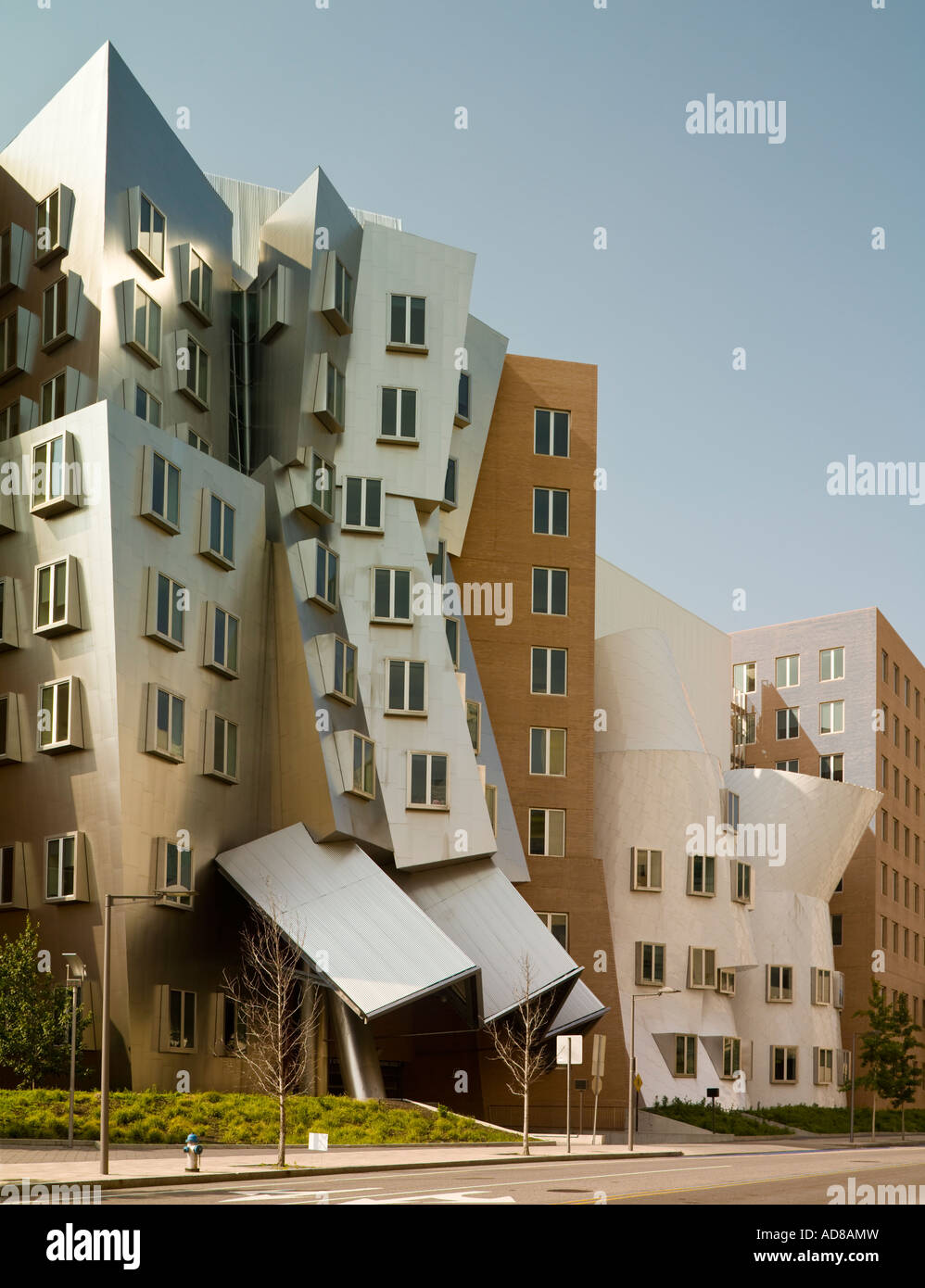 The Ray and Maria Stata Center for Computer, Information, and Intelligence Sciences, MIT, Cambridge, Massachusetts, - Stock Image