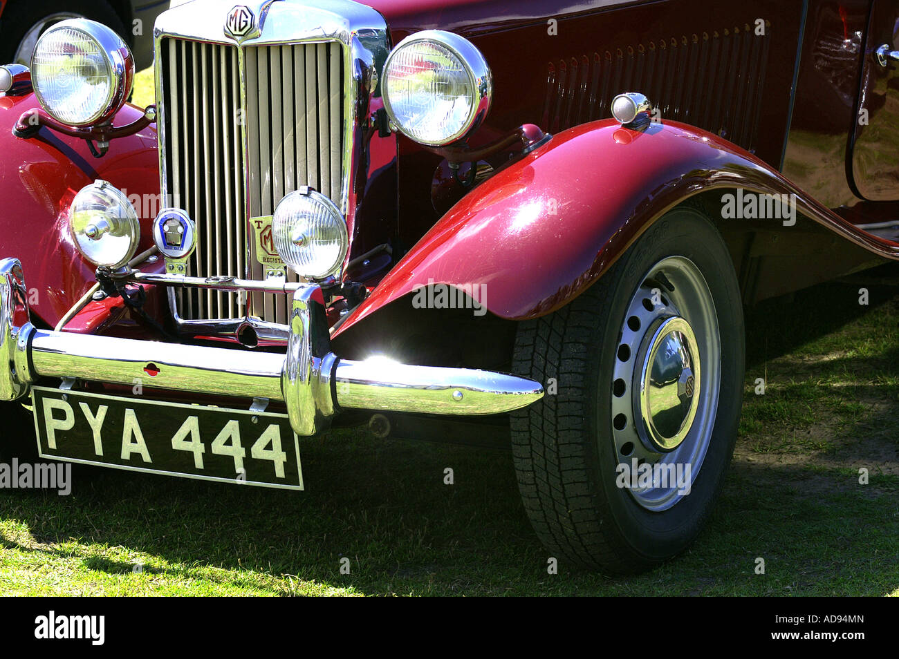 MG classic car at car show in the UK - Stock Image