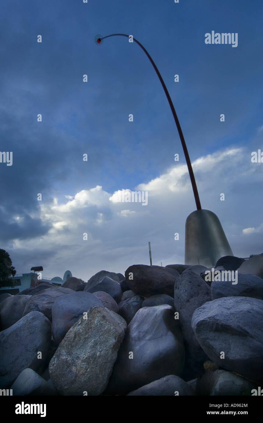 Wind wand at New Plymouth Taranaki New Zealand - Stock Image