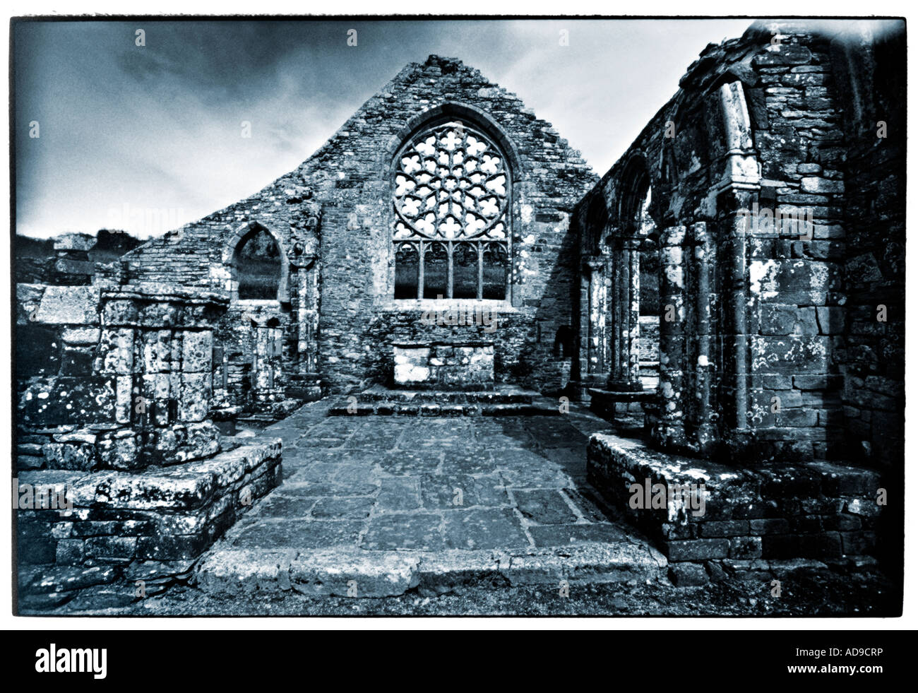ruin of a church in Brittany - Stock Image