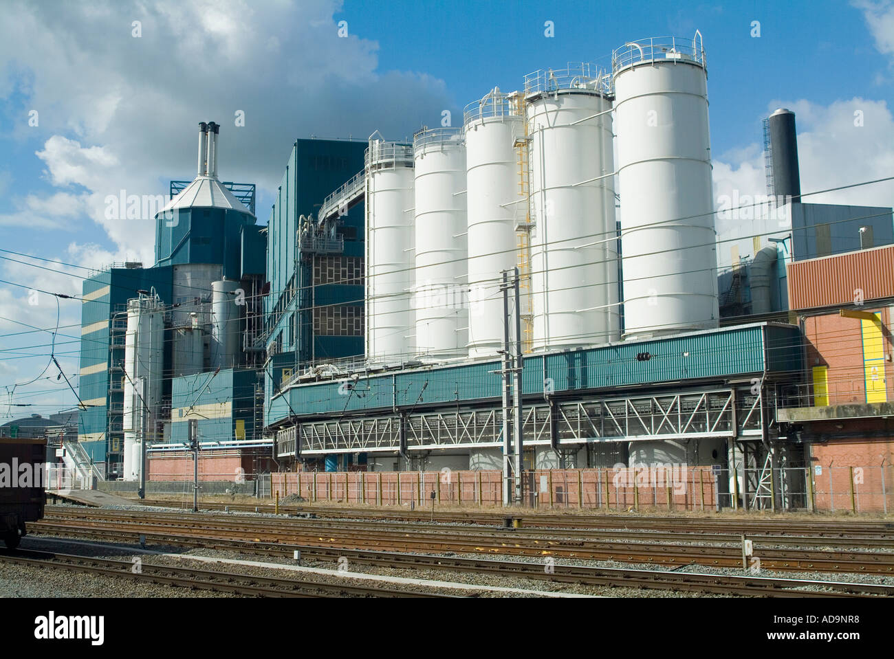 Chemical works in the town of Warrington - Stock Image