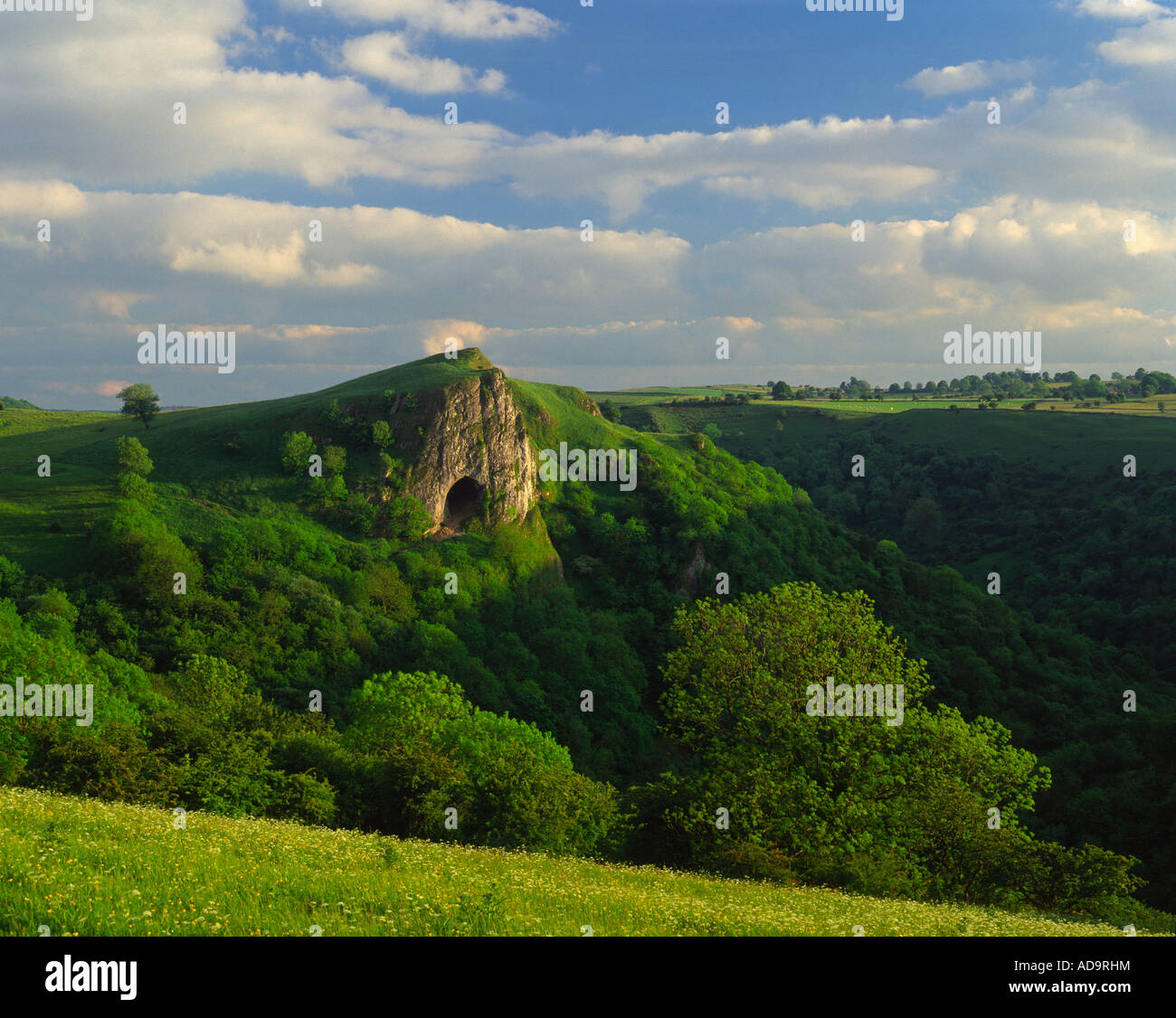 Thor's Cave, Manifold Valley, Peak District National Park, Staffordshire, England Stock Photo