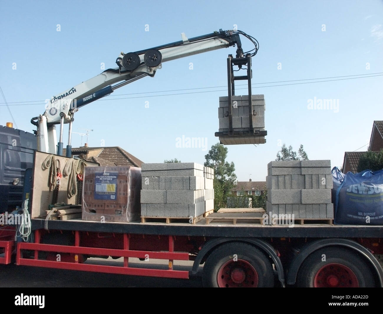 Essex Mechanical Unloading Of Lorry With Load Of Concrete