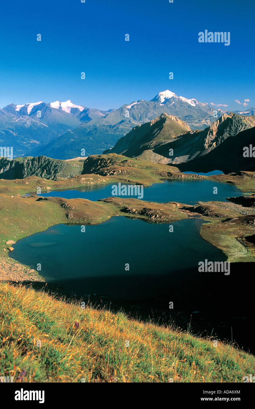 lakes in national park of Vanoise, area called the 5 lakes, France, Alps, Vanoise NP - Stock Image