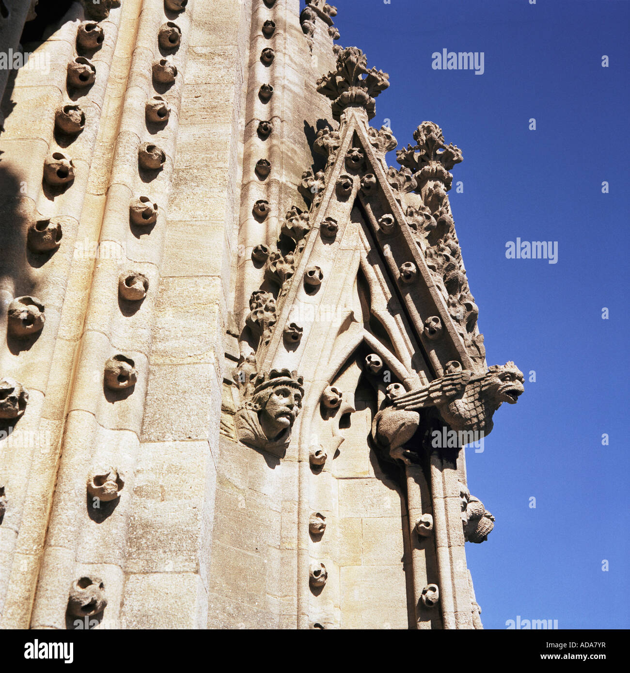 Detail on St Mary s Church Tower in Radcliffe Square, Oxford, England, UK - Stock Image