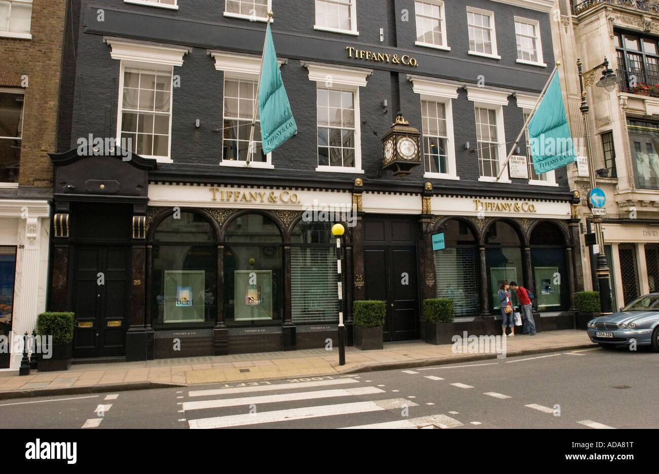 Street facade of a building, Dover Street, London, England - Stock Image